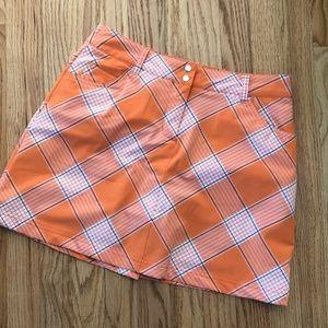 Slazenger Skort: Orange plaid